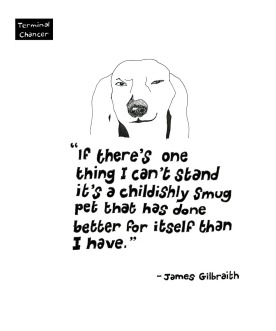 Smug pet quote taken from the book